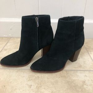 Sam Edelman Black Suede Booties